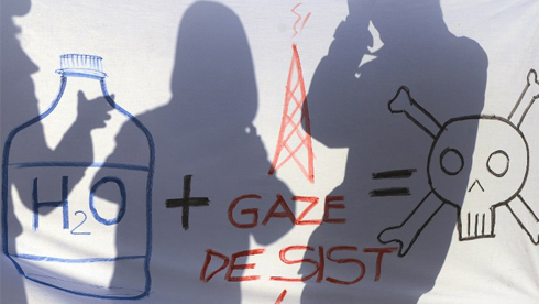 ROMANIA-ENVIRONMENT-SHALE GAS-FRACKING-PROTEST