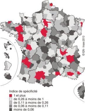 France : les métiers et leursterritoires