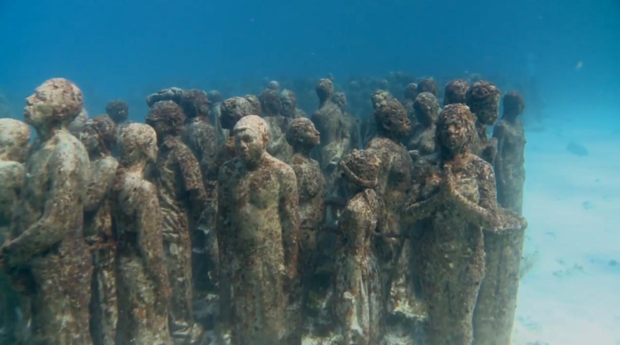 Cancun mexique le plus grand mus e sous marin du monde for Les plus grands musees du monde