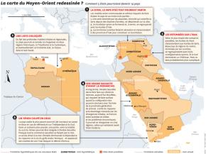 La carte du proche-Orient re-dessinée par le New YorkTimes