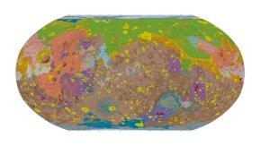 La nouvelle carte géologique de la surface deMars