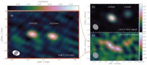 Découverte d'un système rare d'un trio de trous noirssuper-massifs
