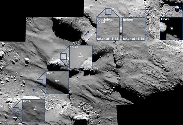 p11566_5e313d14f944893ab400ab12a80bc336OSIRIS_spots_Philae_drifting_across_the_comet-620