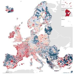 Europe : La démographie entre 2001 et2011