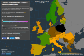 Energie Europe : Cartographie des émissions de Co2