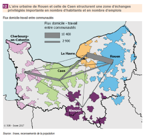 Normandie : 20 grandes aires urbaines structurent leterritoire
